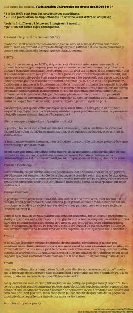 Déclaration Universelle des droits des MOTs (2013.12)